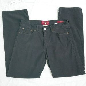 Lucky brand 361 vintage straight corduroy charcoal